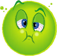 Sick (image from microsoft clip art)